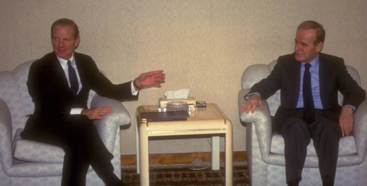 Jim Baker meeting with Syrian President Hafez al-Assad