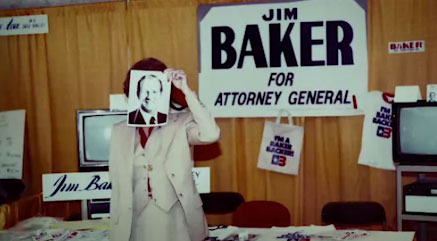 Campaign sign that reads, Baker for Attorney General