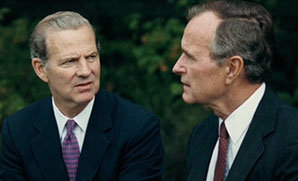 James Baker and President George W. Bush