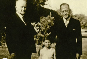 James Baker as a child with his father and grandfather