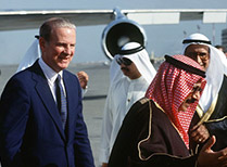 Baker with three Arab leaders