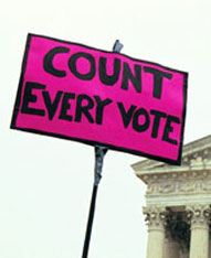 COUNT EVERY VOTE sign